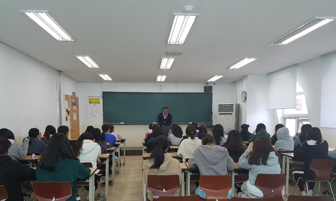 여학생 명상학습법특강 사진1