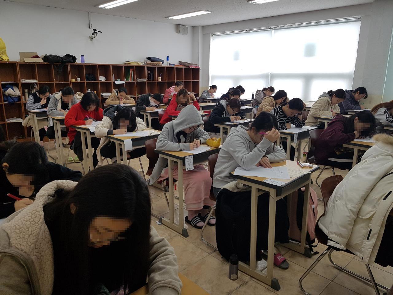 2017년 10월 서울특별시교육청 모의고사 에듀셀파 독학기숙학원 여학생캠퍼스2