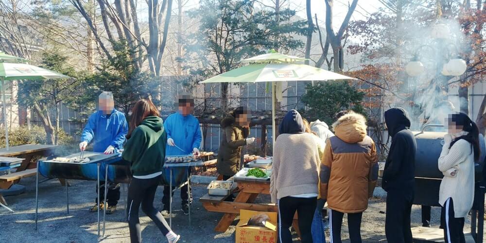 2019년 1월 여학생 삼겹살 파티